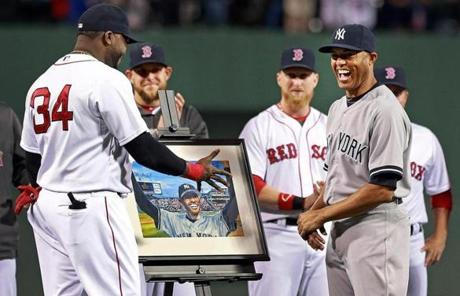 Don't you shake that hand, Mo... it's a trap... (Credit: Boston Globe)