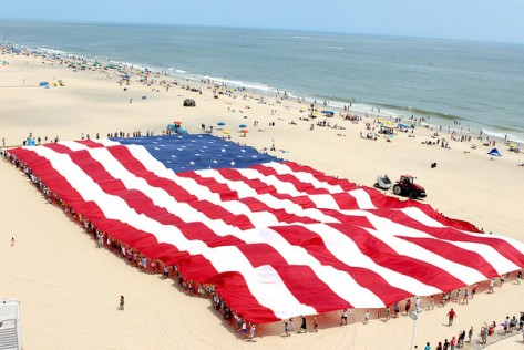 Ocean City, MD celebrating the weekend. (Photo Credit: Baltimore Sun).