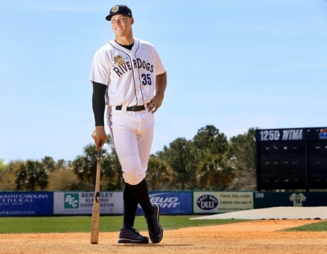 The hulking Aaron Judge (Photo Credit: The Post and Courier)