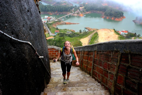 Amelia in Guatape, Colombia who won their first game (Sorry Nomi the Greek)