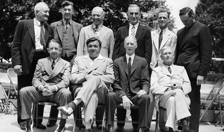 Eddie Collins, Babe Ruth, Connie Mack, Cy Young, Honus Wagner, GC Alexander, Tris Speaker, Napoleon Lajoie, George Sisler, Walter Johnson