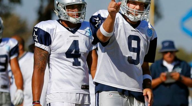 The Dallas Cowboys and Dak Prescott and the Point/ Counterpoint game